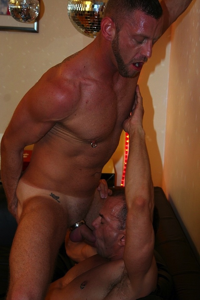 Hardcore and rough bareback fucking with two British muscle guys (2)