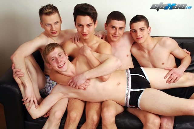 Staxus put together an awesome twink orgy with a gang of bareback boys! (1)